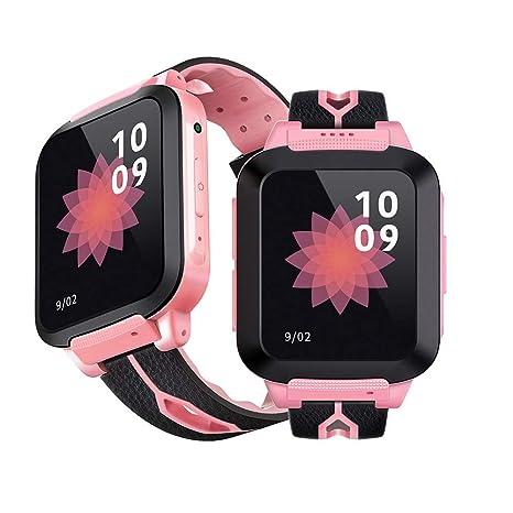 Vbestlife Reloj para Niños Tracker GPS Podómetrocon Pantalla Táctil Soporte Teléfono SIM Anti-Perdido SOS