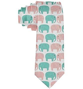 Corbata de moda para hombre Elefante Corbata de animales lindos ...