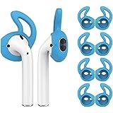 Ear Hooks for Airpods, Norhu Earphone Cover Compatible with Apple AirPods(for Airpods 1&2 ONLY) - 4 Pairs (Blue)