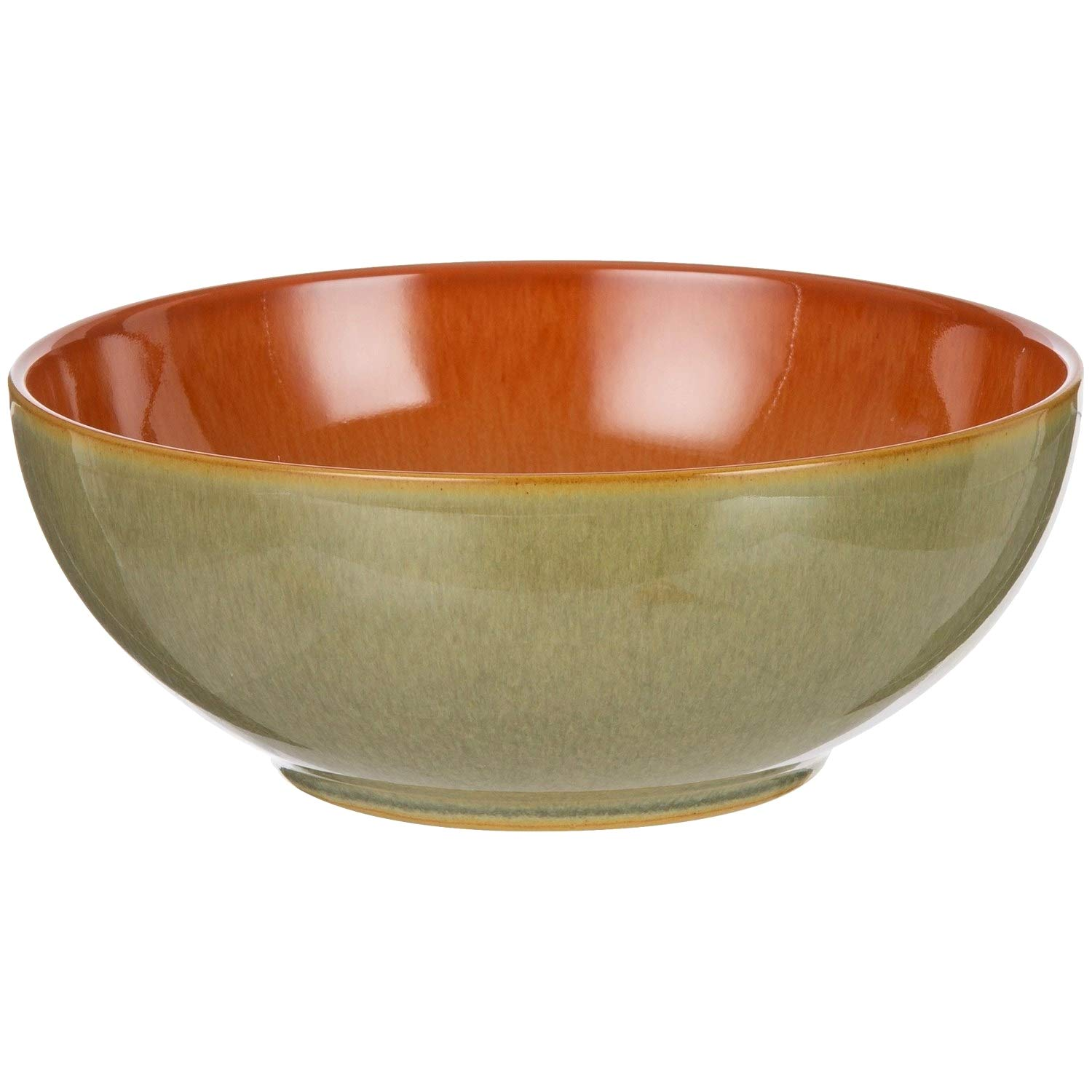 Denby Duets Stoneware Soup and Cereal Bowl - 6-1/2 Inch - Set of 2 - Paprika