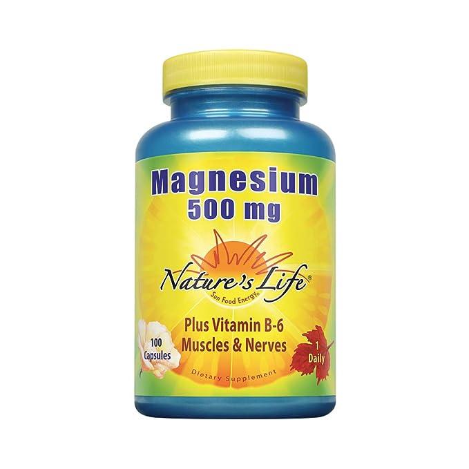 El magnesio, 500 mg, 100 Cápsulas - La vida de la naturaleza: Amazon.es: Salud y cuidado personal