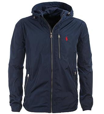 Polo Ralph Lauren Herren Jacke Windbreaker Übergangsjacke dunkelblau Größe L 8e06b36893