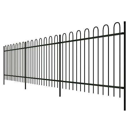 Garden Mile® Decorative Victorian Style Garden Fencing Garden Lawn Edging  Black Or White Picket Fence