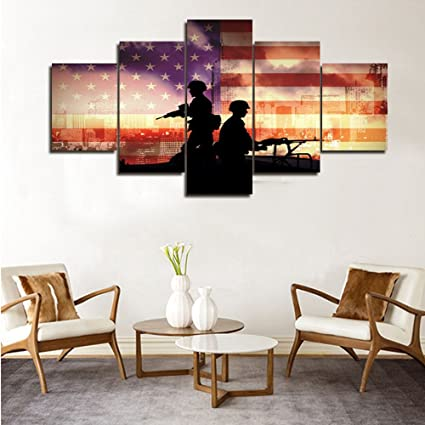 Amazon Com Large Wall Pictures For Living Room Wooden Wall Decor
