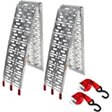 2Pcs 7.5' Pair Aluminum Folding Loading Ramps Pickup Truck Trailer Motorcycle ATV UTV Lawnmower