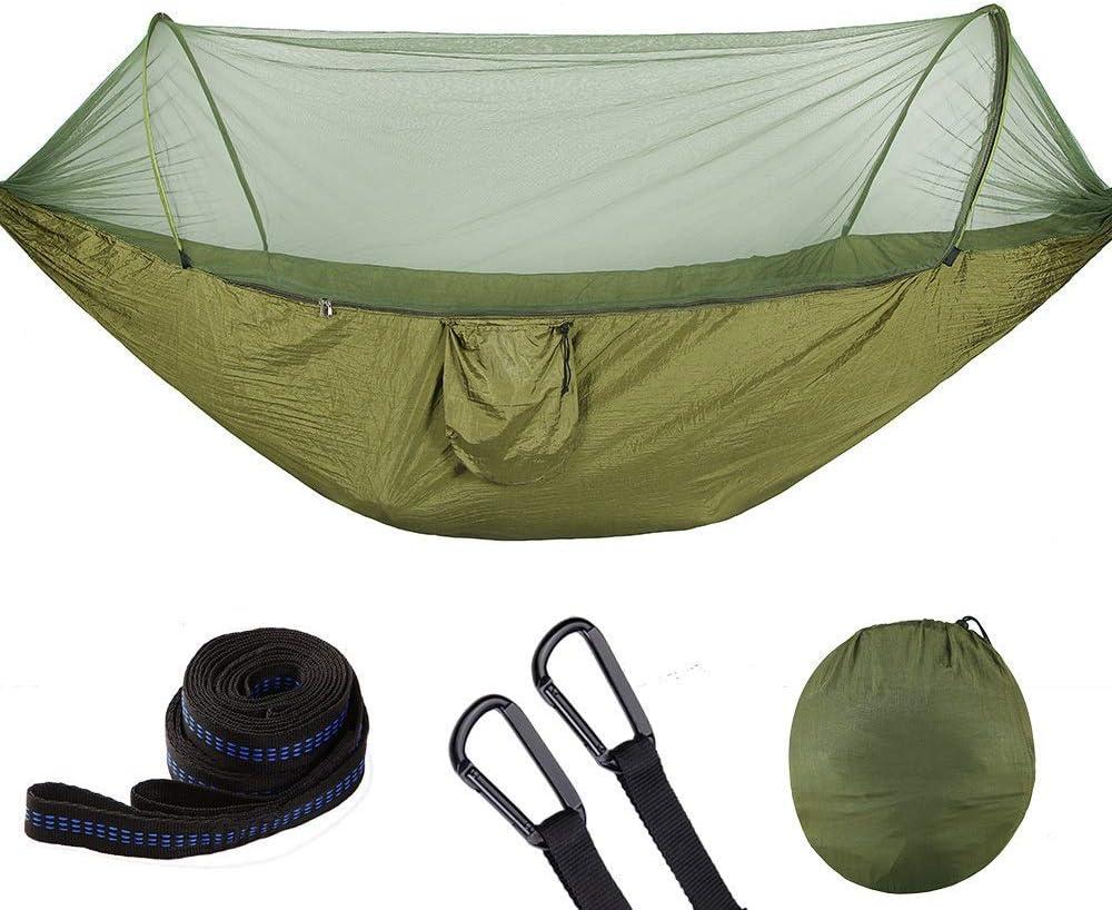 ZLXIONG Hamaca de camping con mosquitera portátil al aire libre paracaídas hamacas columpio hamaca hamaca camping cosas, 3