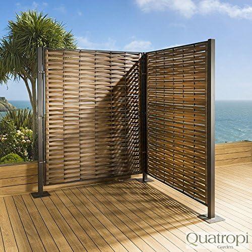 Avant Garde Biombo pantalla para jardín o patio, lujoso diseño de mimbre, gris: Amazon.es: Hogar
