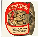 Global Gallery GCS-375777-30-142 ''Retrorollers Roller Skating For Health & Enjoyment'' Gallery Wrap Giclee on Canvas Wall Art Print