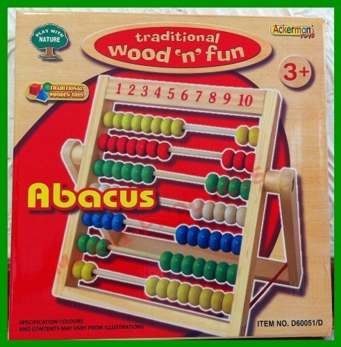 Ackerman Toys Wooden Abacus Fun Counting Educational Learning Toy