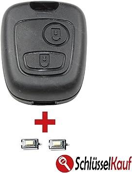 Reparatur Satz Passend für Citroen C1 und C3 2 Tasten Funkschlüssel Gehäuse