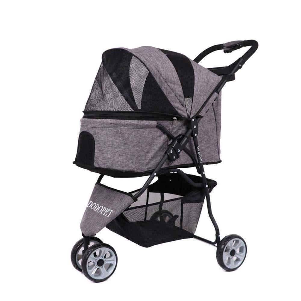A Lozse Pet Stroller Dog Pushchair Doggy carts, portable cars, oxford cloth, small carts