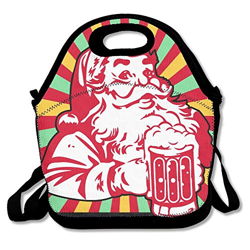 Soft Friendly Lunch Box Food Bag Gourmet Handbag It's Most Wonderful Time For Beer Christmas\r\n Fashion For Girls Hailin Tattoo