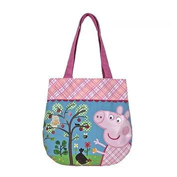 Peppa Pig sac à main avec deux poignées en tissu LFzPfl