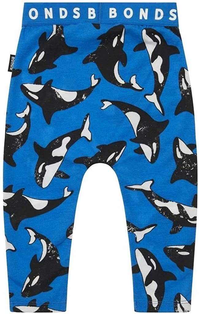 84 cm Blue 12-18 Months Bonds Stretchies Leggings Killer Whale