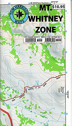 Mt. Whitney Zone Trail Map: Whitney Portal, Crabtree and Cottonwood Lakes (Tom Harrison Maps)