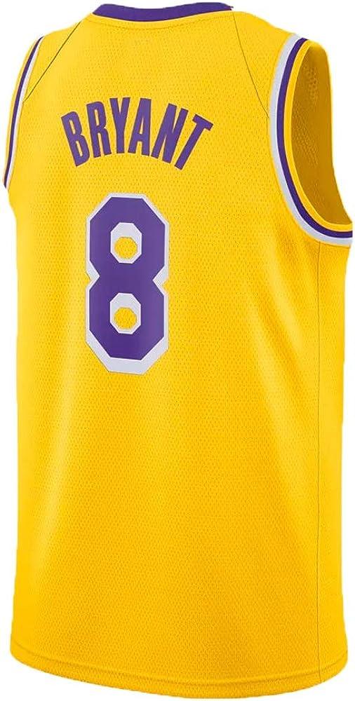 S-XXL Mens Kobe Jersey Los Angeles 8 Basketball Bryant L, Yellow