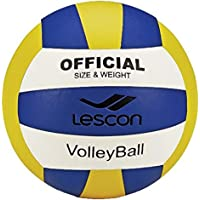 Lescon La-2576 Voleybol Topu, Unisex, Sarı/Lacivert, 4 Numara