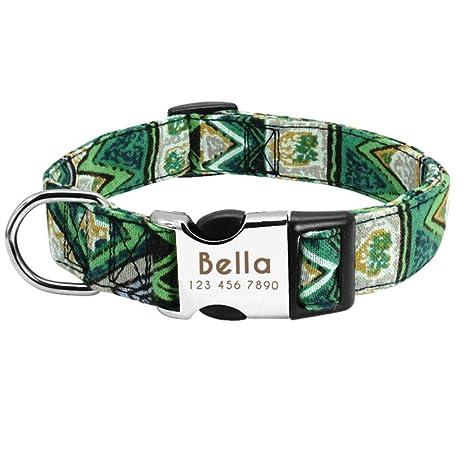 OLDK Collar de Perro de Mascota Personalizado Collar de Nylon ...