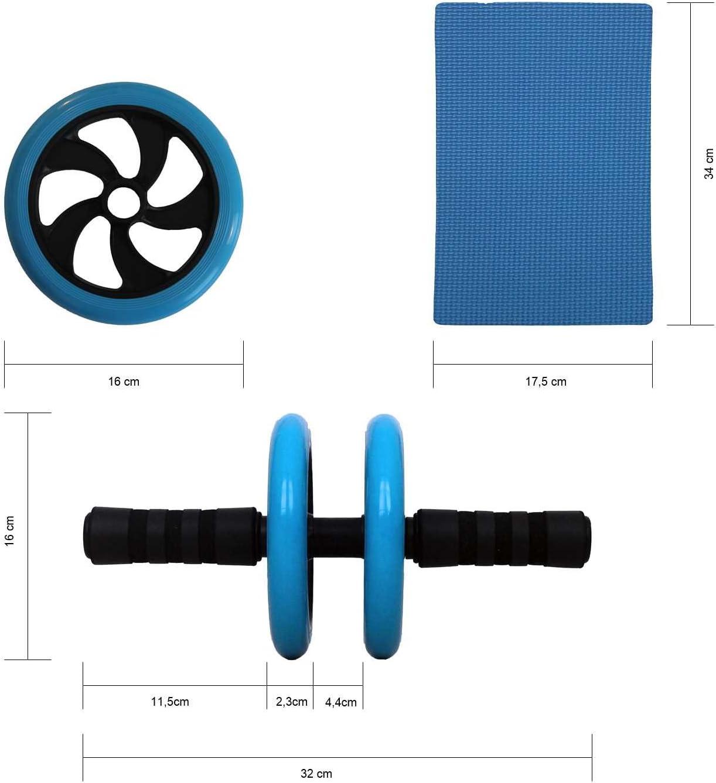 falia Attrezzo per addominali AB ROLLER CON ginocchio cuscino per il tuo Fitness/ Pancia Roller 2/anni di garanzia /Allenamento per Tutto il corpo per principianti e