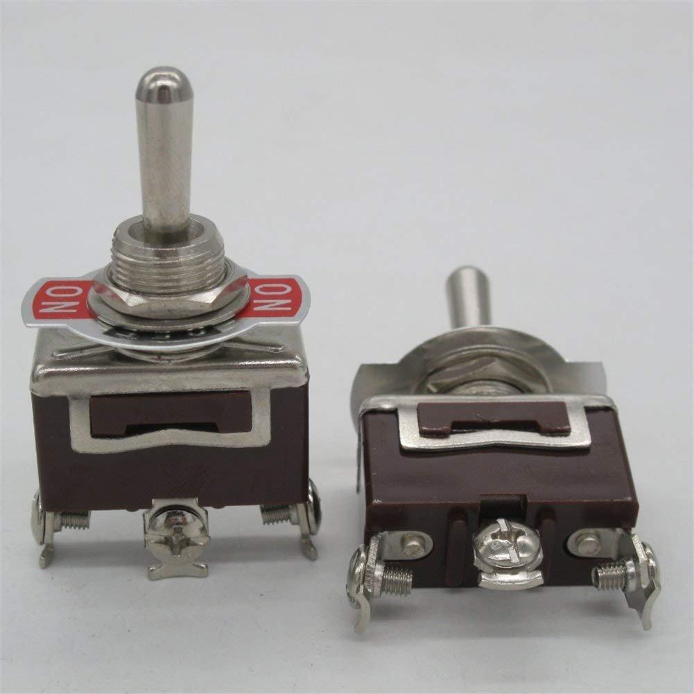 MZ 3pi/èces couvercle /étanche Ten-1122 Taiss//3pi/èces interrupteur /à bascule /à bascule robuste avec d/émarrage pour 20A 125V SPDT 3 positions interrupteur /à bascule ON-OFF-ON