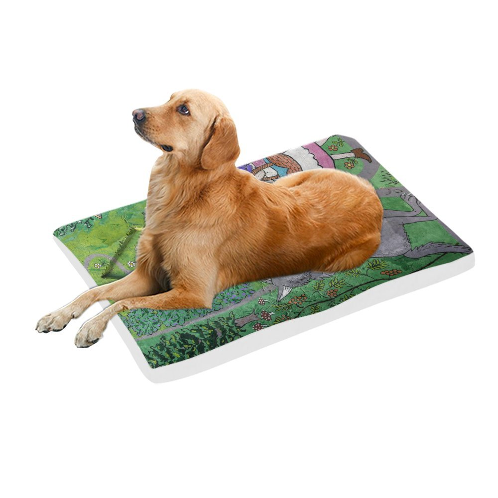 42\ your-fantasia Girl and Wolf Pet Bed Dog Bed Pet Pad 42 x 26 inches