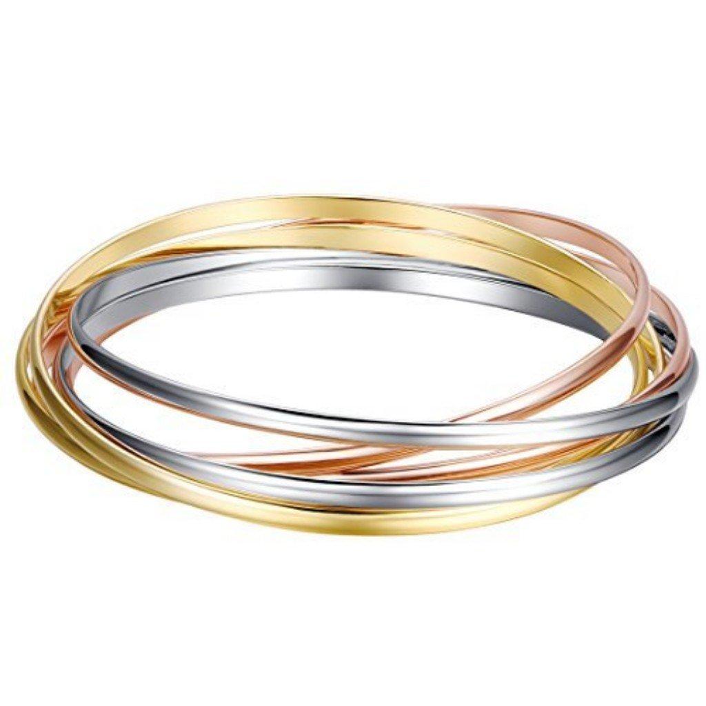 Shally Women's Gold Tone Hinged Cuff Bracelets