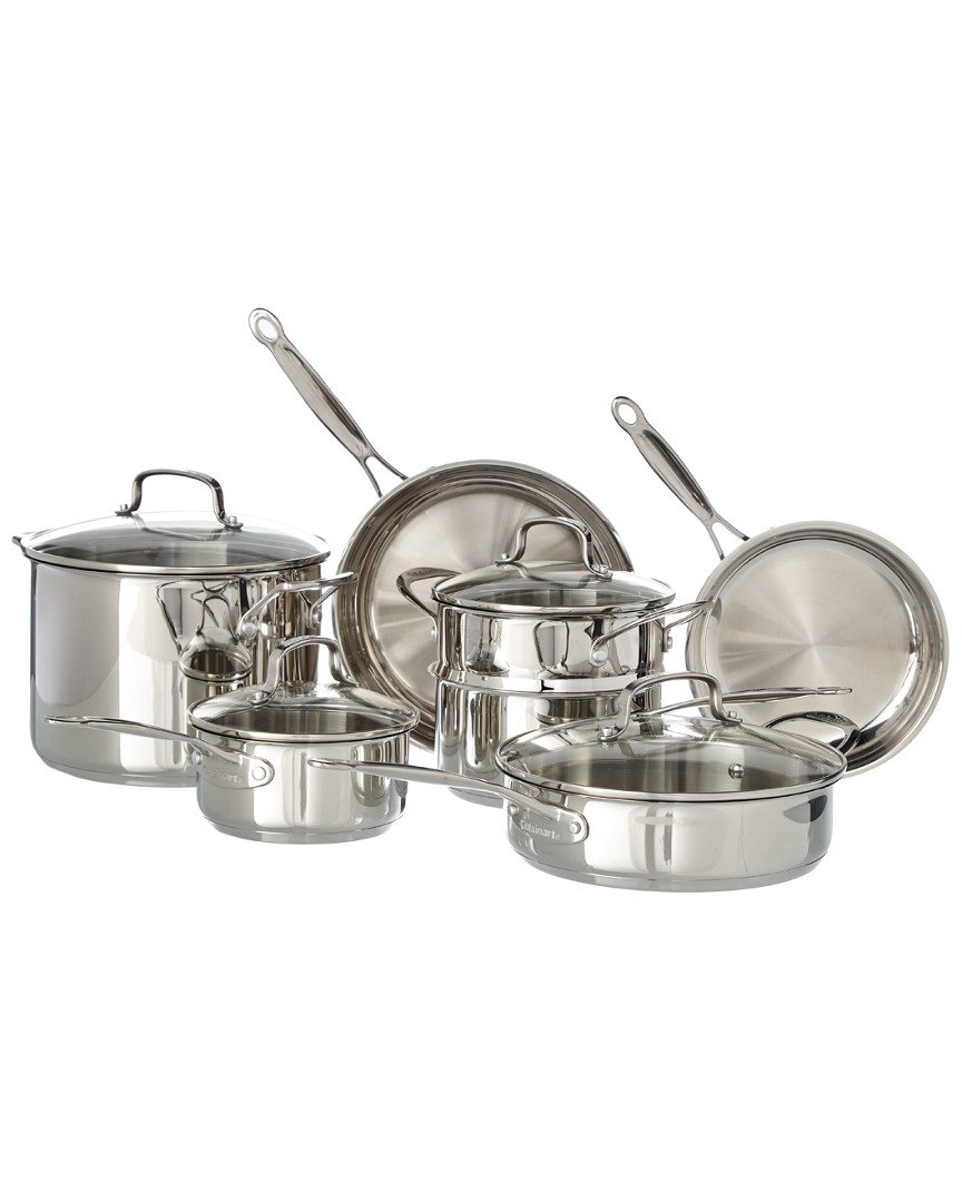 Cuisinart Chef 'sクラシック11-pc。ステンレススチール調理器具セット+フリーギフトSeeは詳細 One Size One Size なし B07BW8BXK8