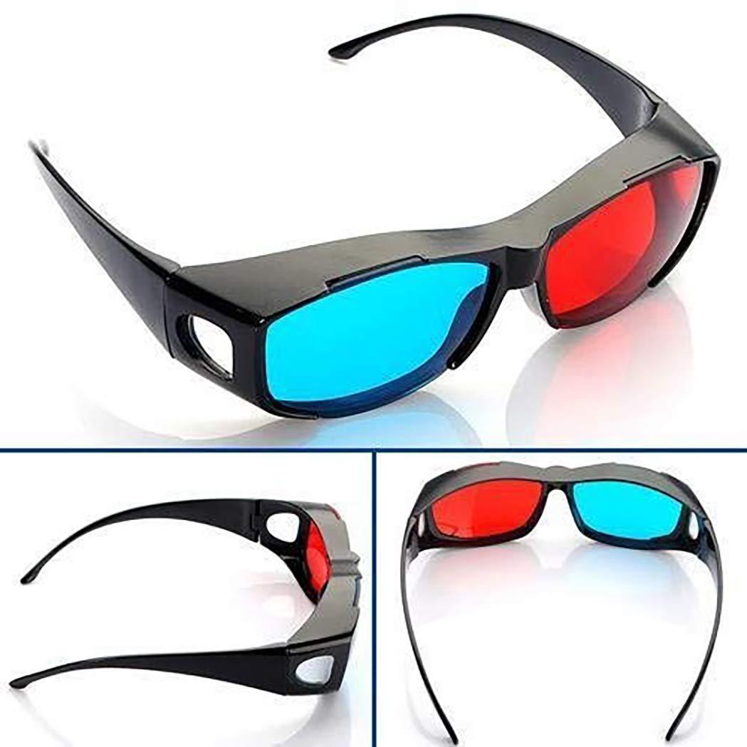 SeaStart - Gafas de Cristal 3D para cámara de Fotos, Color Rojo y ...