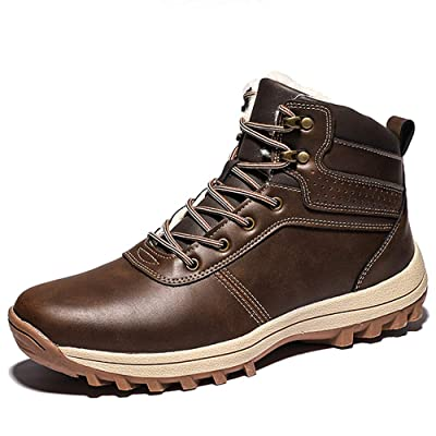 FFZC Mens Snow Boots Outdoor Hiking Waterproof Fashion Sneakers Winter Warm Shoes | Snow Boots