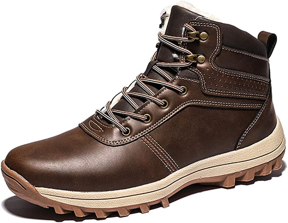 FFZC Mens Snow Boots Outdoor Hiking