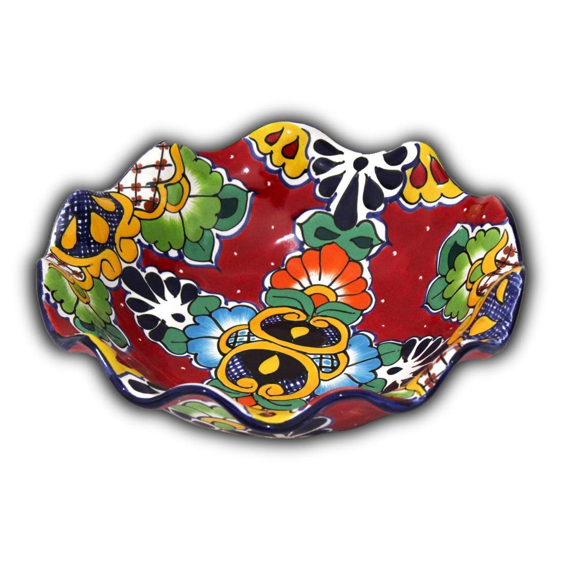 Fruit Bowl Mexican Talavera (Red)