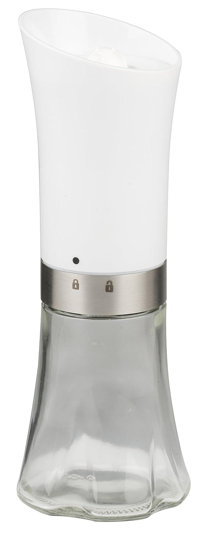 Alpina 871125293729 Moulinsà sel et poivre automatique en acier inoxydable Blanc 7,5x 7,5x 21cm