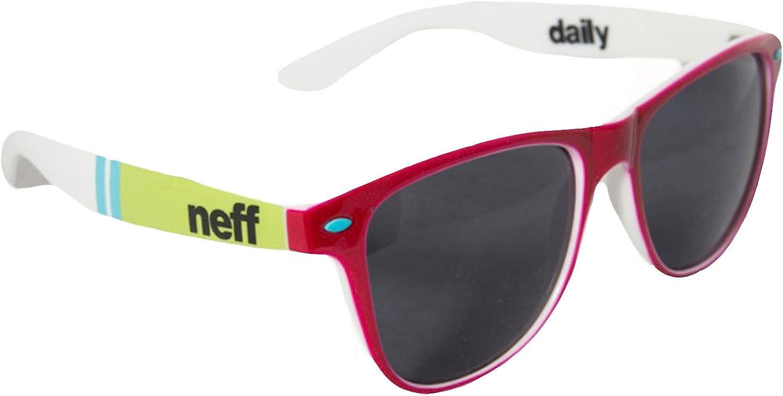 Neff Headwear Daily Shades Rectangular Sunglasses, Pink Black, One Size + 0