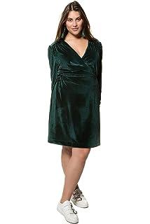 Studio Untold Damen große Größen bis 54, Samtkleid mit Streifen,  V-Ausschnitt mit c8a5ecd4c9