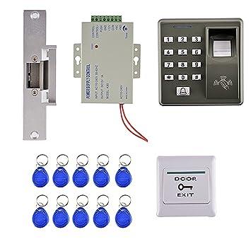 Sharplace 125khz RFID Tarjeta Huella Dactilar Kit de Control de Puerta Acceso con 10 Tarjetas Clave: Amazon.es: Electrónica