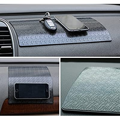 Extra Thick & Large Sticky Anti-Slip Gel Pad, Mini-Factory Premium Universal Non-Slip Pad for Cell Phones, Sunglasses, Keys, Coins and More