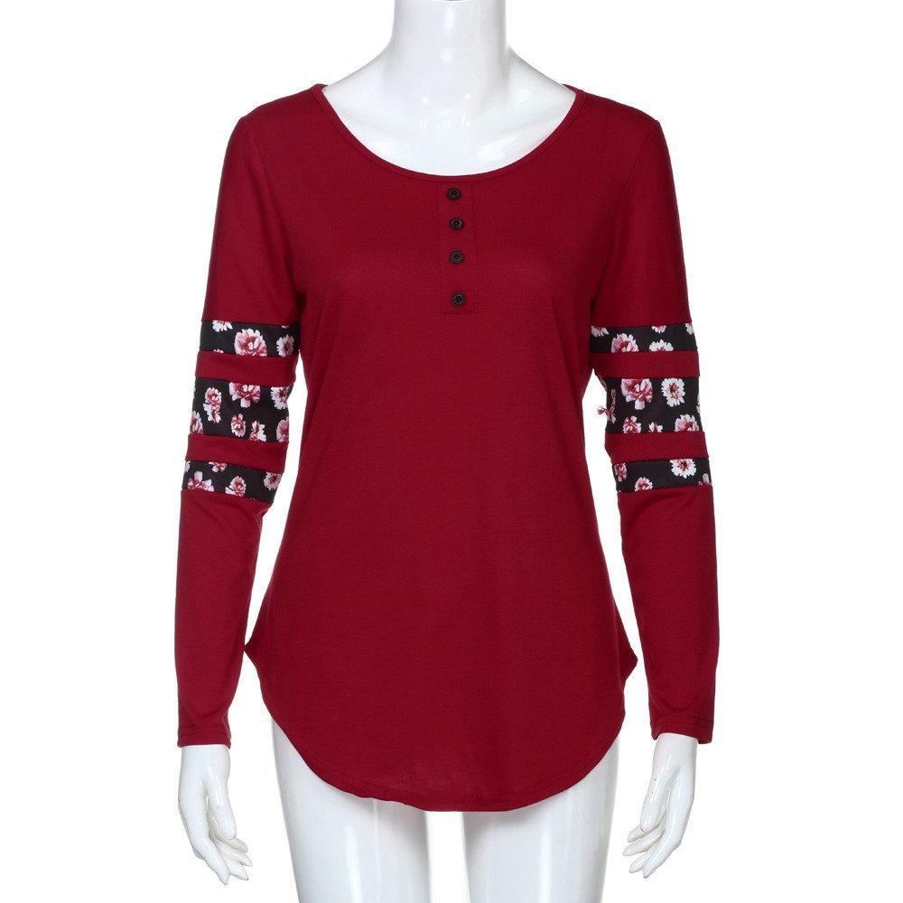 Amazon.com: YKARITIANNA 2019 Womens Print Long Sleeve Loose Blouse Casual Shirt Summer Tops T-Shirt: Arts, Crafts & Sewing
