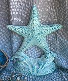 (Ship from USA) Cast Iron Starfish Doorstop Aqua Blue Door Stop Nautical Beach Sea Decor *JPOU842H5ET12809