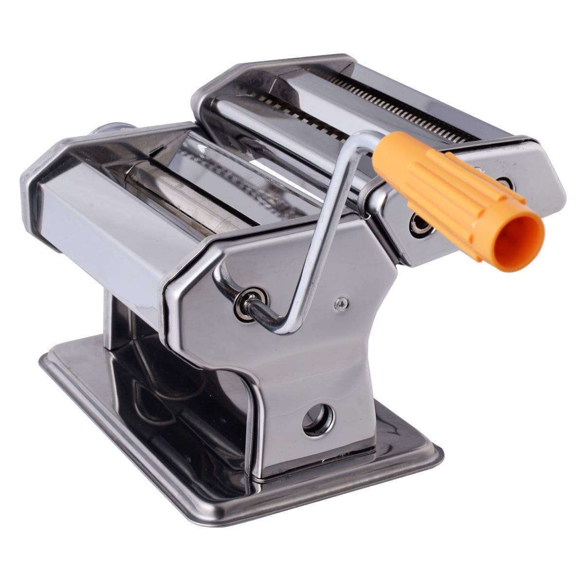 Cypressshop Stainless Steel Pasta Makers Fresh Noodle Roller Machine Kitchen Cooking Utensils For Spaghetti and Fettuccine