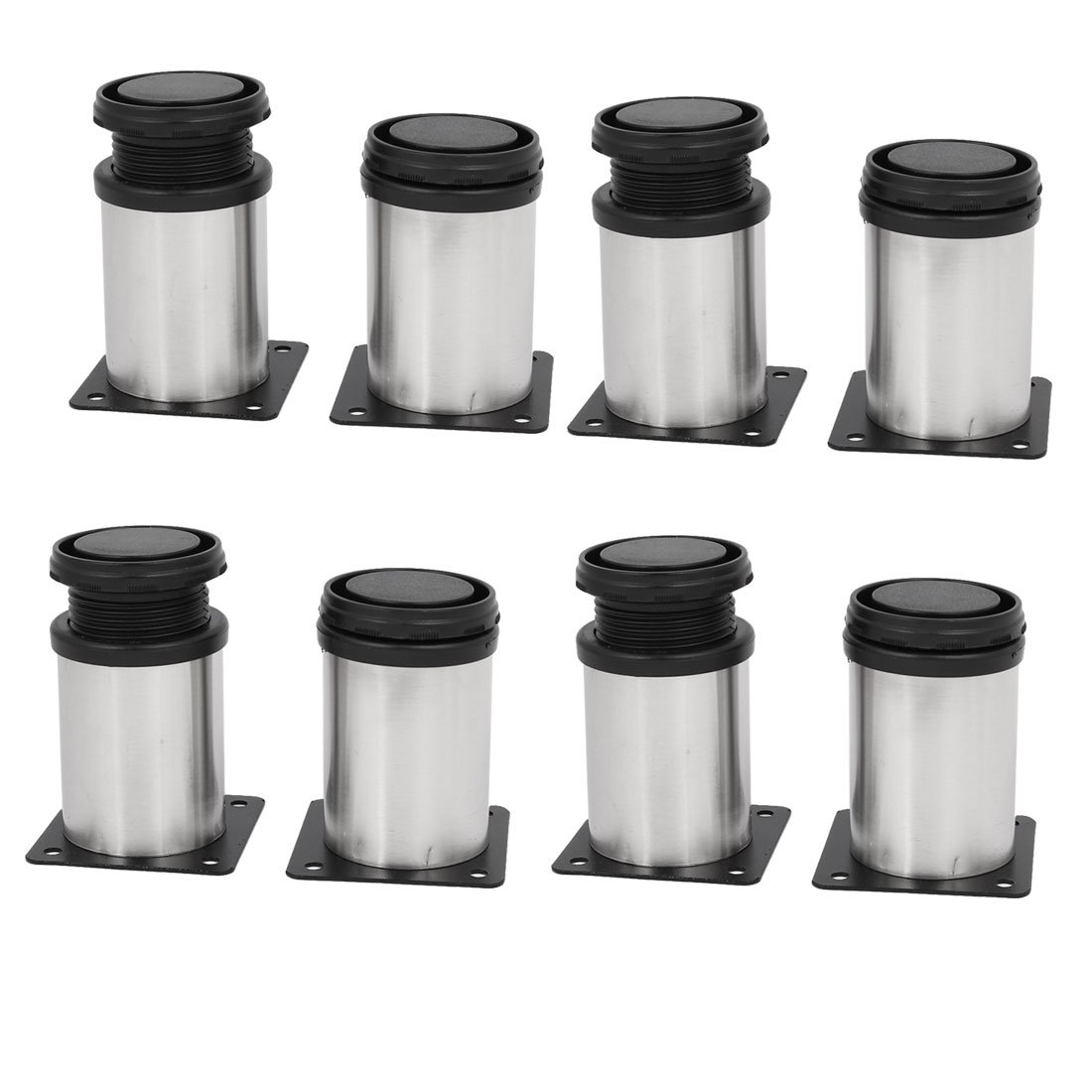 uxcell 50mm x 80mm Metal Adjustable Cabinet Leg Feet Round Stand 8PCS by uxcell (Image #1)