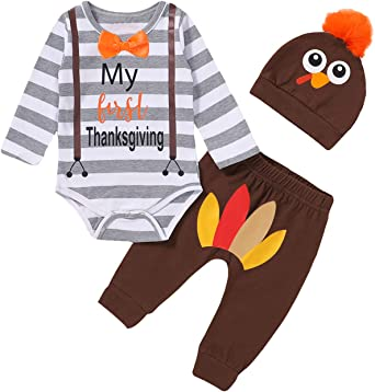 My 1st Turkey Day Baby Bodysuit First Thanksgiving Baby Outfit Unisex Baby Gift