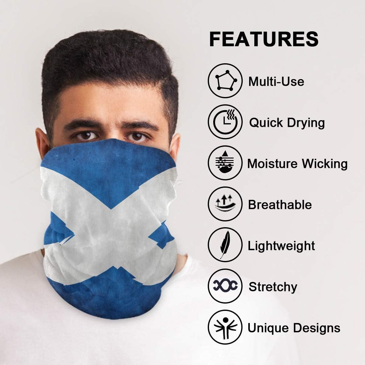 Vipsa Flag Of Scotland Seamless Bandanas for Dust Sports Multifunction Headwear Outdoors Festivals