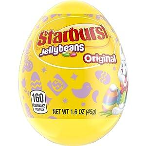 STARBURST Original Jellybeans Candy Filled Easter Egg, 1.6 oz.
