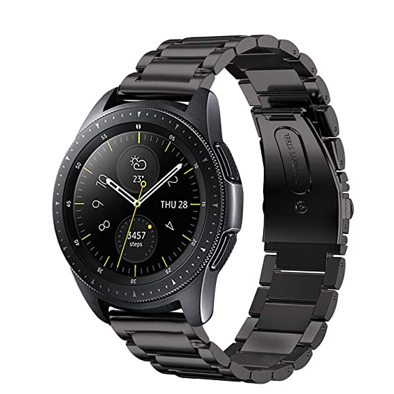 6f7bbea6e3 Aimtel Compatible Samsung Galaxy Watch(42mm) Bands,20mm Stainless Steel  Replacement Bracelet Strap