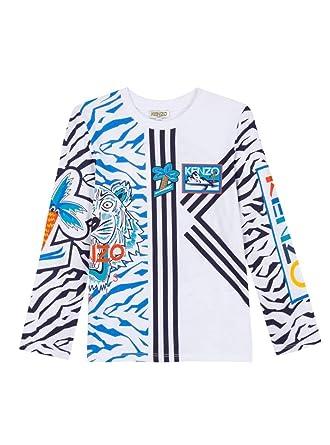 205d18157a68 Kenzo T-Shirt ELIOROU Blanc 16A Blanc  Amazon.fr  Vêtements et accessoires