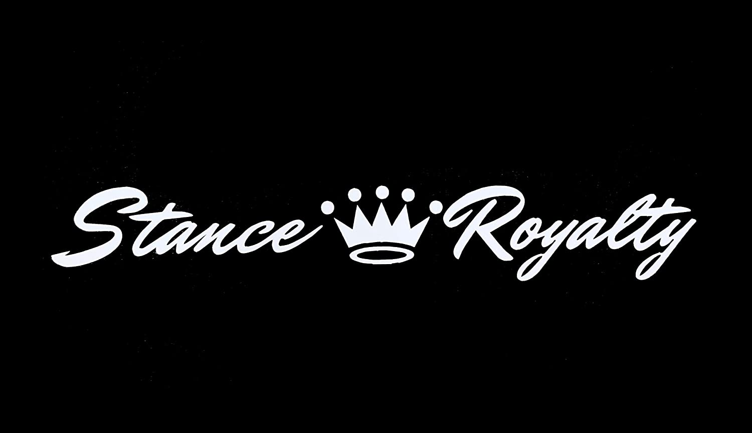 Stance Royalty Crown Decal Vinyl Sticker|Cars Trucks Vans Walls Laptop| White |7.5 x 1.5 in|DUC256