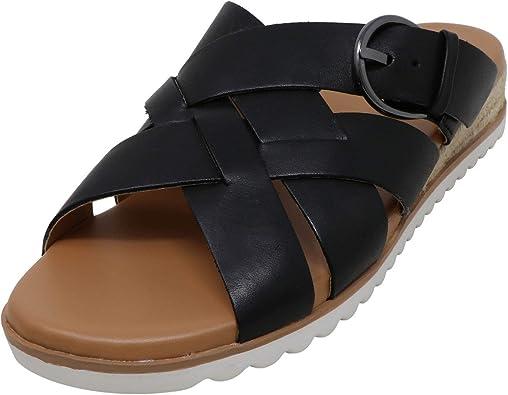 Easy Spirit Saffron Womens Sandal 7 C//D US Black