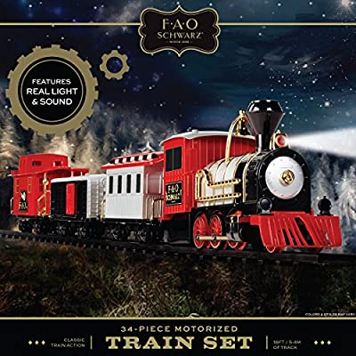 FAO Schwarz Classic Motorized Train Set: Toys & Games