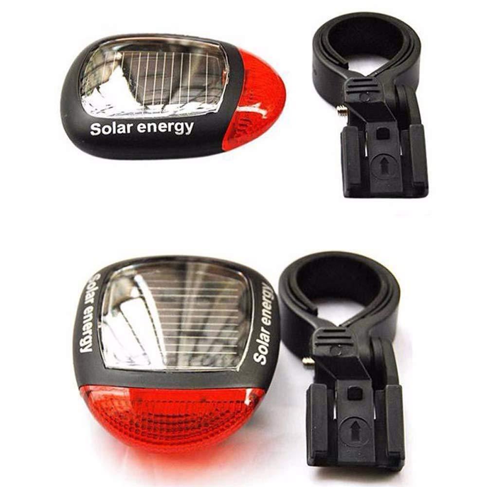 Inicio Fahrrad R/ücklicht Solar Energy LED Radfahren R/ücklicht Fahrrad Kopf Frontlicht Warnung Taschenlampe Mit Montagehalterung