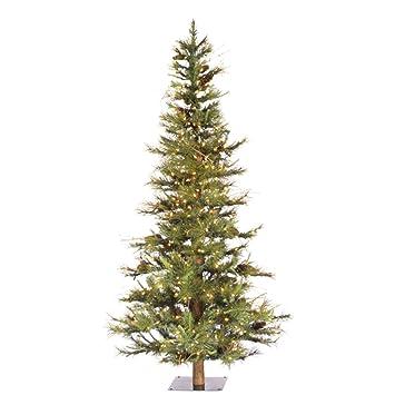 Christmas Trees Artificial.Vickerman Artificial Christmas Tree Classic Pvc Needles Ashland Fir Prelit With Clear Mini Christmas Lights 6 Green